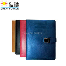 Crocodile veins leather ring binder folder refill for A5 notebook notepad planner paper inserts