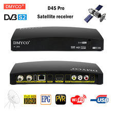 Original D4S PRO DVB-S2 HD Satellite Receiver FTA Satellite TV Receptor D4S-pro Decoder Full HD 1080P H.265 MPEG-5 PVR YouTube