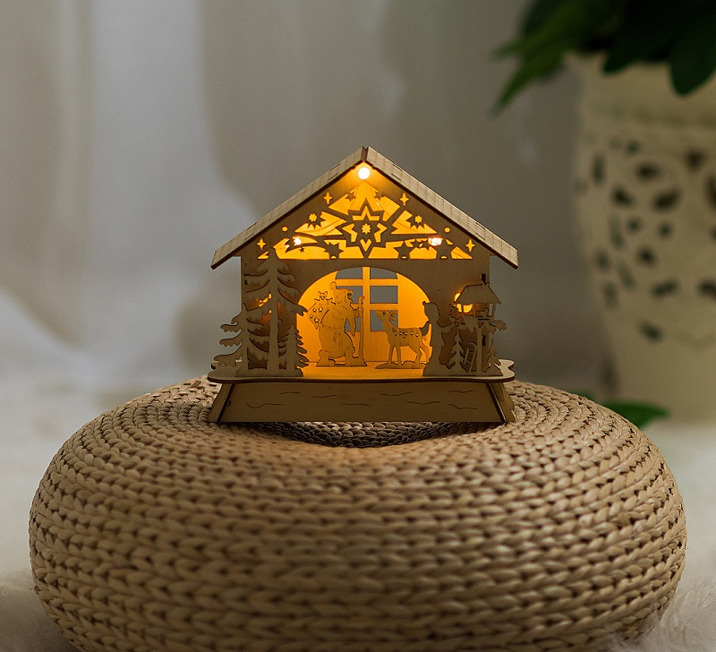 house led lights Shine fairy wooden Christmas luminous decorative home decorations best gift Holiday wedding birthday party kid