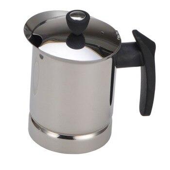 AMYAMY Stainless Steel Moka Stovetop Espresso Coffee Maker Latte Percolator Stove Espresso Maker Pot  New 300 ML 6 Cup