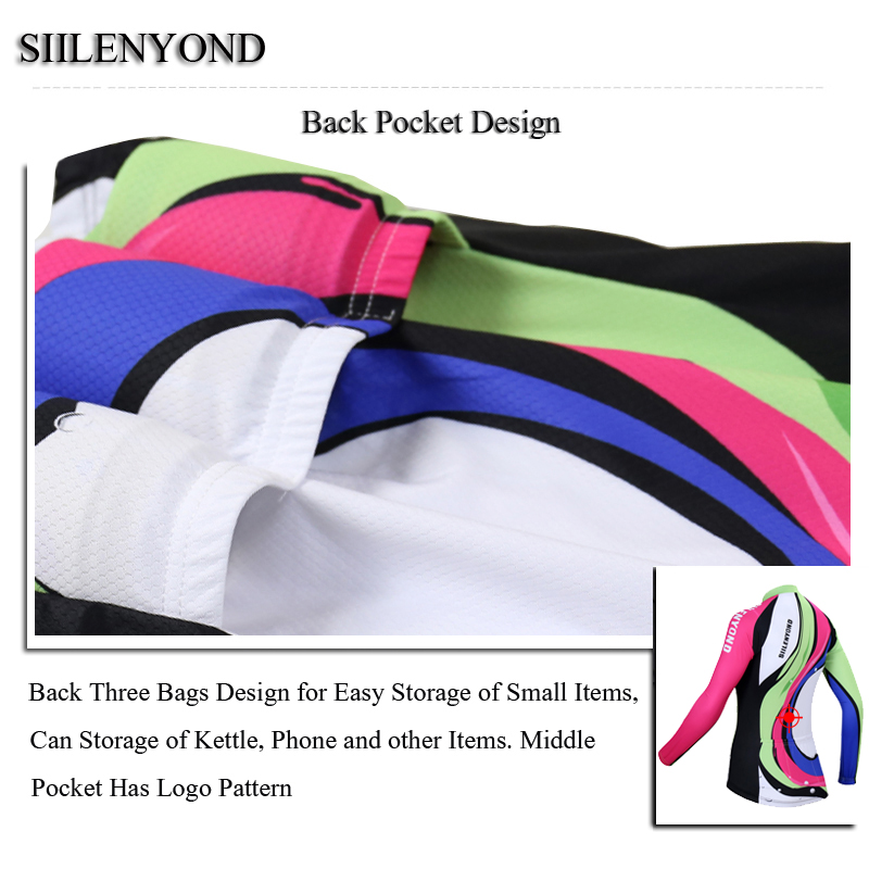 Siilenyond 2019 Pro Winter Thermal Fleece Cycling Jersey Keep Warm Racing Bike Cycling Clothing MTB Bicycle Cycling Clothes 4