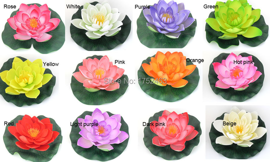 Decoration flower names my web value aliexpress buy 2 pieces green artificial pe foam lotus flowers water lily floating junglespirit Image collections