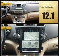Otojeta Vertical 12.1 Quad Core Android 6.0 2gb ram Car DVD GPS NAVI For Toyota highlander 2009 2013 Multimedia stereo headunit
