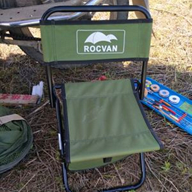 Portable Outdoor Chair with 15L Bag, Leisure Camping Folding Stool for Sketching or Fishing, Space Saving, Bearing Capacity 90kg portable fishing chair with cool bag oxford cloth stool with large capacity storage zipper ice bag fishing chair bag 28x29x60cm