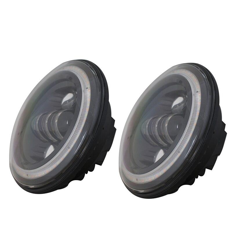 7 Inch Round LED Headlight Conversion Kit DLR Light Assembly For Jeep Wrangler JK TJ FJ