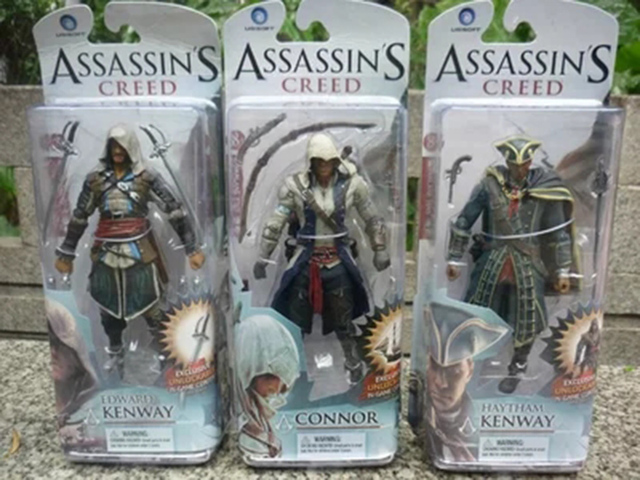 Assassins Creed 4 Black Flag Hidden Blade Game Figurine PVC Action Figure Collectible Model Toys for Gift