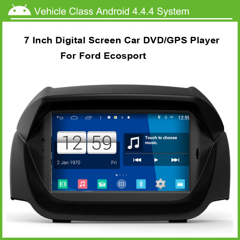 Android Car DVD Player For Ford ECOsport GPS Navigation Multi-touch Capacitive screen,1024*600 high resolution