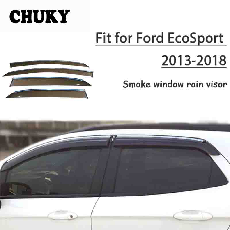 Chuky 4pcs Car Styling Window Visors Awnings Shelters Rain Shield For Ford EcoSport 2013 2014 2015