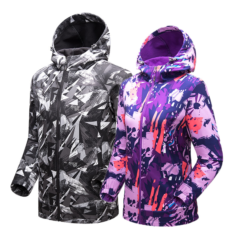 TECTOP Men Women Softshell Coat Jacket Outdoor Sport Camping Hiking Waterproof Windproof Breathable Camouflage Soft shell Jacket