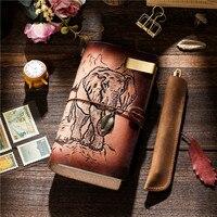 Craft 100% Винтажные ботинки из натуральной кожи тетрадь Дневник путешествий Журнал Планировщик Sketchbook Повестка дня DIY пополнения бумаги подаро
