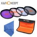 K&F Concept 52mm 58mm 67mm 4pcs UV CPL FLD Warming Lens Filter Kit for Nikon D5300 D5200 D5100 D3300 D3200 D3100 DSLR Cameras