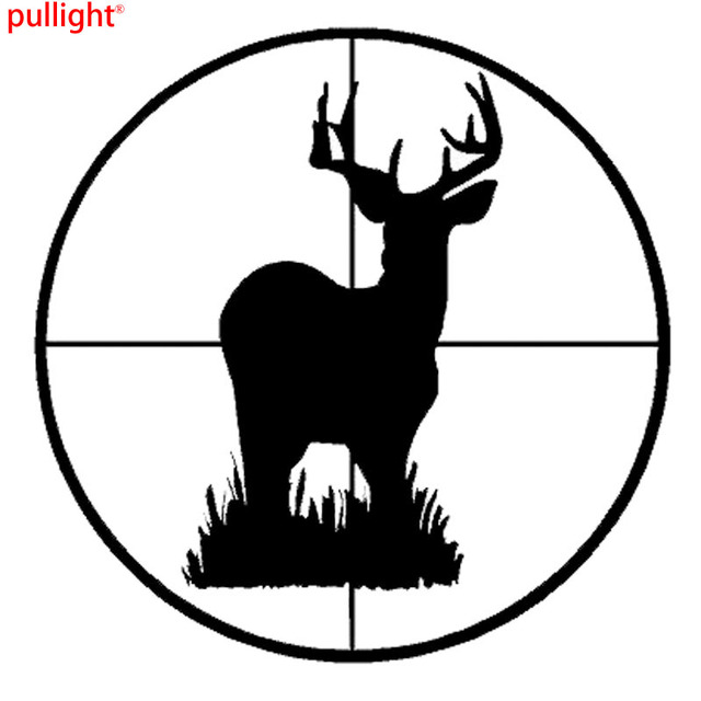 1313cm hunting car styling deer scope target cool car sticker and fashion personality creative