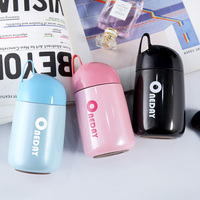 Mini Thermos Cup Cute Thermos Drinkware Steel Women Vacuum Flask 280ml Mini Thermos Cute Belly Cup