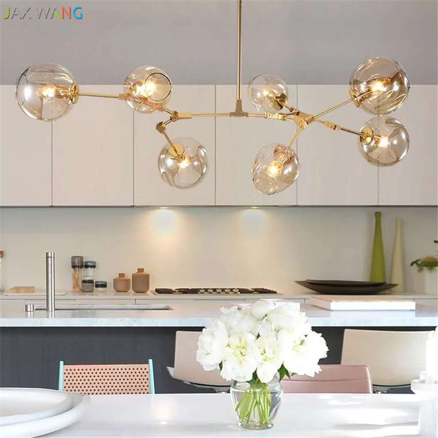 Modern Glass Pendant Light Nordic Pendant Lamps Dining Room Kitchen Light Designer Hanging Lamps Avize Lustre Lighting Luminaire