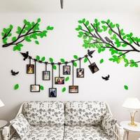 2017 New 3D Tree Photo Frame Wall Stickers Creative Photo Tree Living Room Sofa Bedroom Bedside
