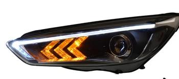 2pcs Car Styling Head Lamp for Focus Headlight 2012~2017 year DRL Daytime Running Light Bi-Xenon HID Accessories