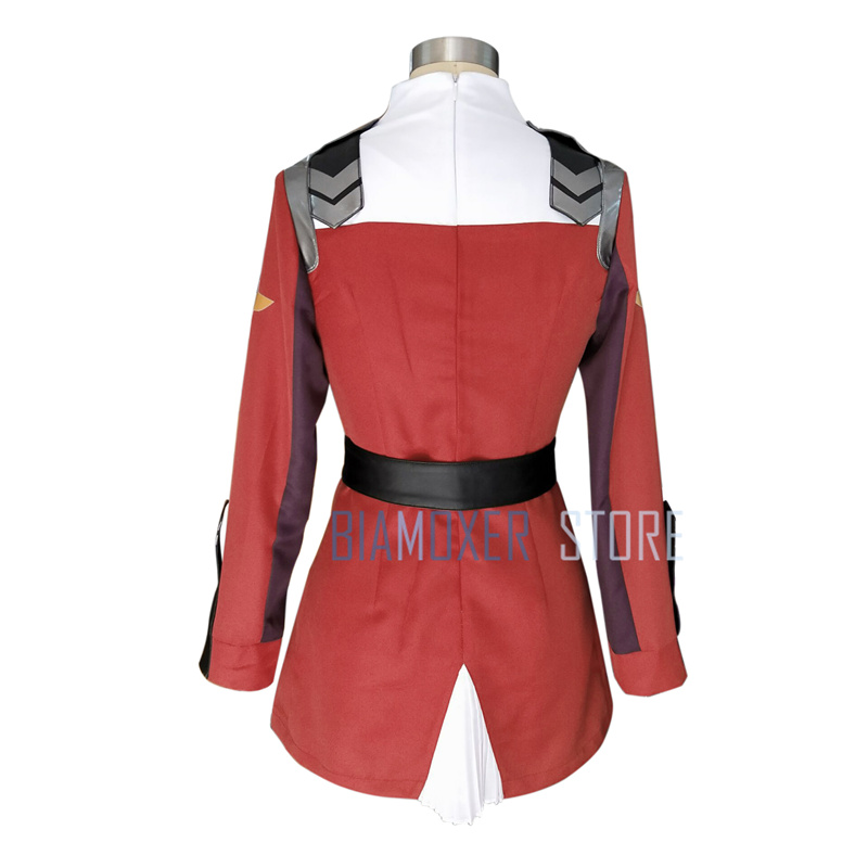 DARLING in the FRANXX ZERO TWO Outfit Cosplay Costume Full Set Headband Custom