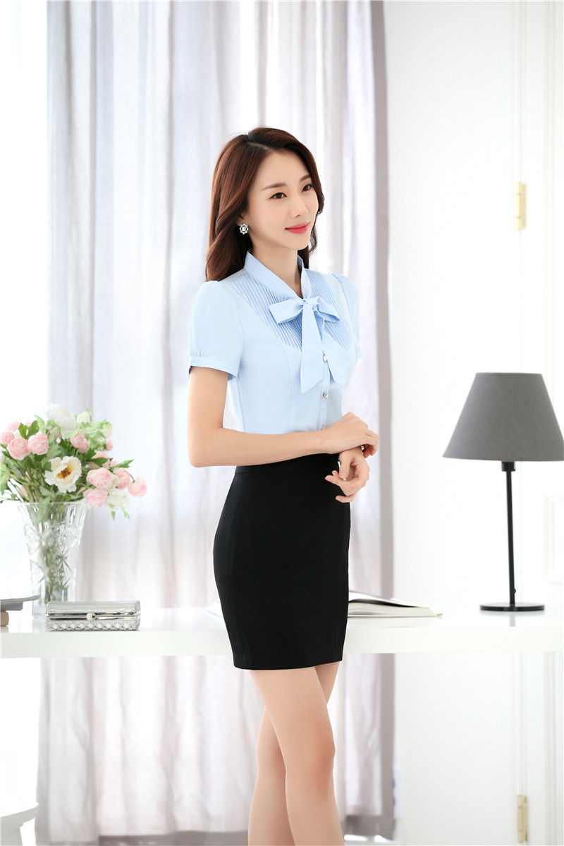 e39dbb854e43 New Summer Professional Formal Uniform Style Work Wear Suits With 2 Pieces  Tops And Skirt Business Women Outfits Plus Size-in Skirt Suits from Women s  ...