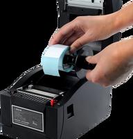 Impresora de etiquetas de código de barras de impresora térmica de alta calidad con interfaz USB + serie + Lan
