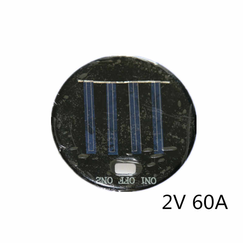 Polycrystalline silicon/Poly Solar Panel Round 77MM 2V 60A 0.12W with Switch Hole solar glue board