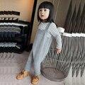 2016 Primavera Estilo Bobo Bebê Macacão Jeans Meninos Meninas Algodão harem pants Calças de Malha Do Bebê Crianças Crianças PP Pants Calças Do Bebê Harém calças
