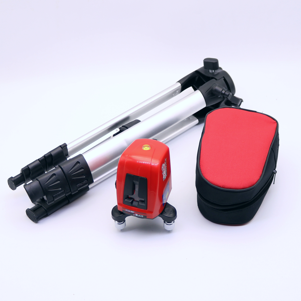 ACULINE AK435 Laser Level 2 Red Cross Line 1 Point 360 Degree Rotary Self- leveling Laser Diagnostic Tools With Tripod aculine ak436 360 degree rotating red beam self leveling cross laser line lightspot