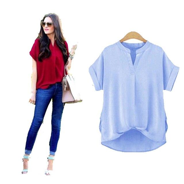 db3c0f577aa 2017 Fashion Shirt Female Short Sleeve Women s Blouses Spring Plus Size  Pure Cotton Shirt Women Casual