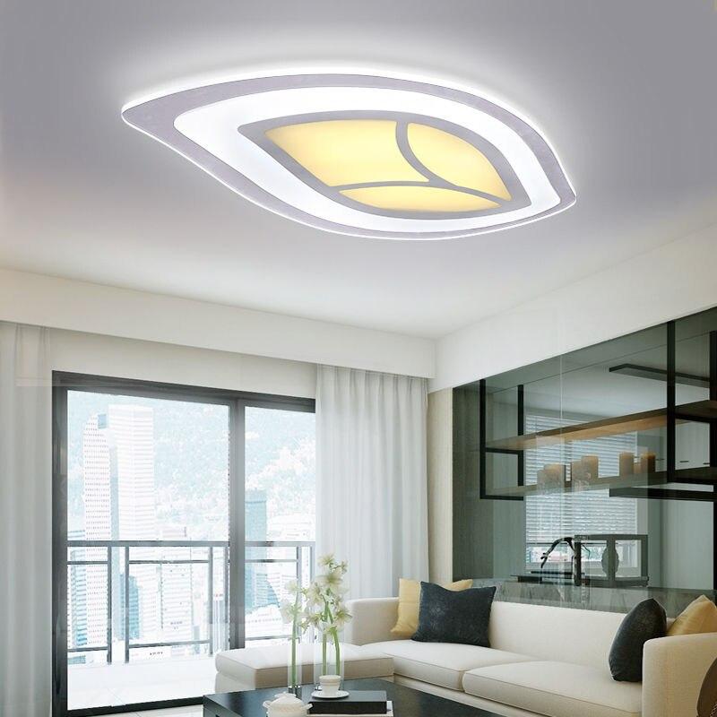 Design Acrylic LED Ceiling Fixture Lighting Living Room Lights Pendant Lamp  Creative Warm Minimalist Oval Tree Leaves Lighting In Ceiling Lights From  Lights ...