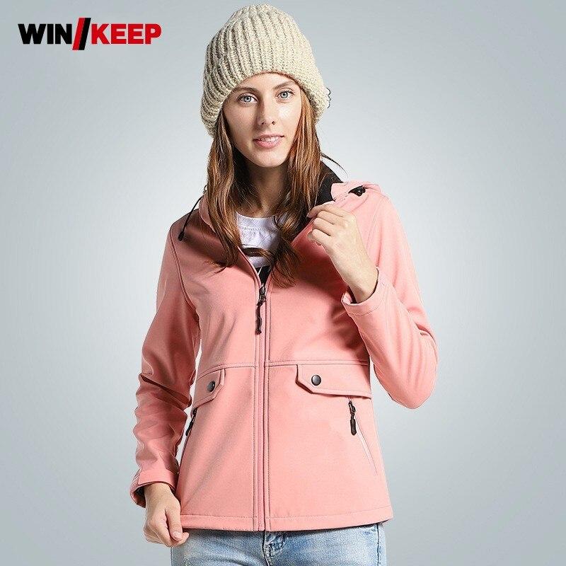 Printemps automne extérieur femme imperméable veste Camouflage femmes randonnée Sport doux Shell vestes à capuche Zip imperméable femmes manteau