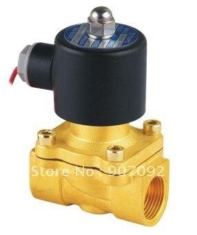 "3/4"" Brass Solenoid Valve NPT Control Air Water Gas 220V 2W200-20"