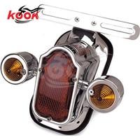 Cafe racer indicador traseiro piscando unviersal parte moto luz de freio para harley retro moto rcycle luz da cauda com luz sinal volta -