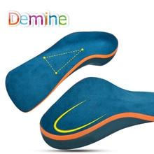 Demine ילדים אורטופדיים רגליים שטוח מתקן קשת תמיכת Orthotic רפידות פעוט ילדי נעלי רפידות רגל בריאות