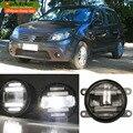 Eemrke ксенон белый высокой мощности 2на1 из светодиодов DRL проектор противотуманный фонарь с линзой для Renault Sandero 2008 - 2016