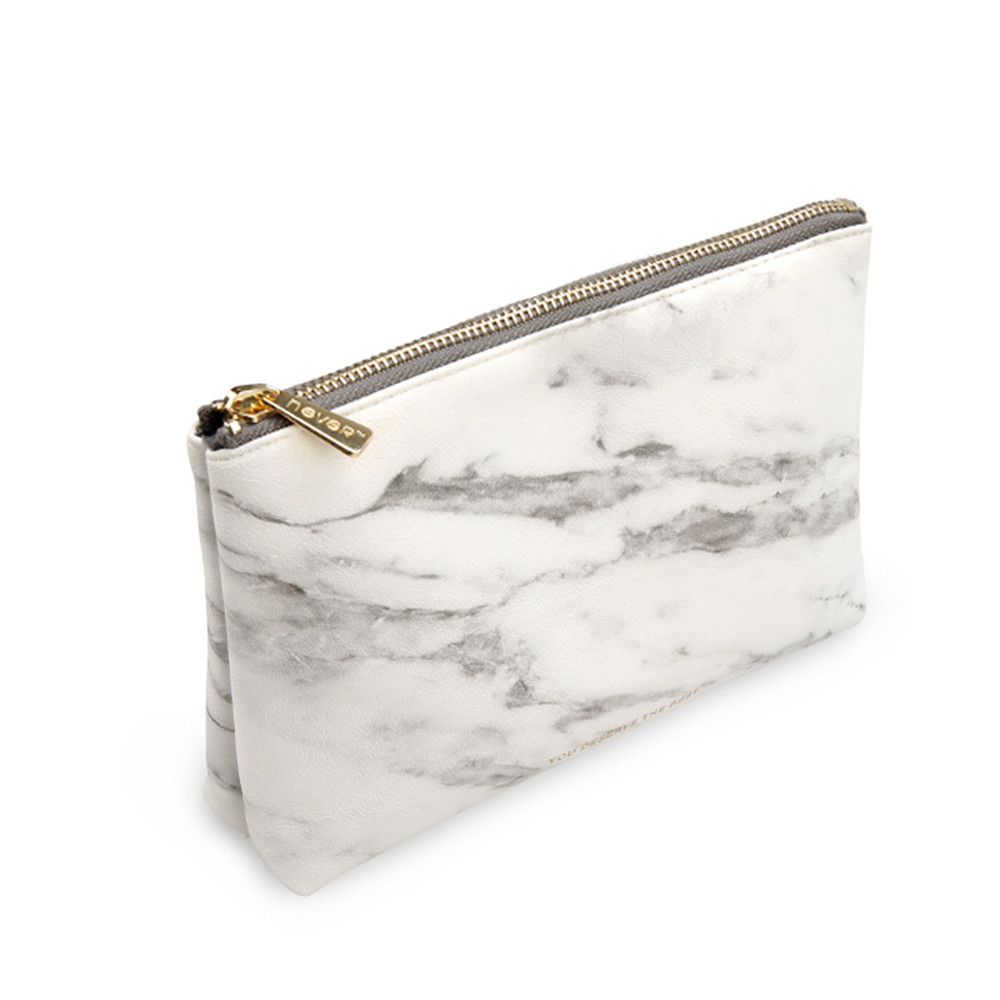 Marble White Pencilcase Pencil Bag Cosmetic Bag With Gold