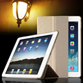 Luxury Smart Wake Sleep Folio Stand Smart three fold Silk Leather Case Cover For New Apple iPad 5 6 iPad Air pad Air 2