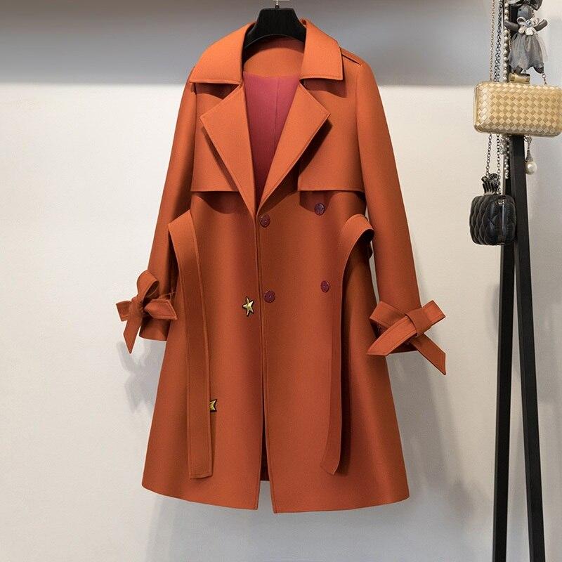 Popular Orange Wool Coat-Buy Cheap Orange Wool Coat lots from ...