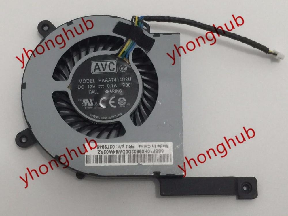 AVC BAAA7414B2U, P001 Server laptop Fan DC12V 0.7A 4-wire for avc ds06025r12u p103 dc 12v 0 26a 4 wire 4 pin connector 60mm 60x60x25mm server square cooling fan