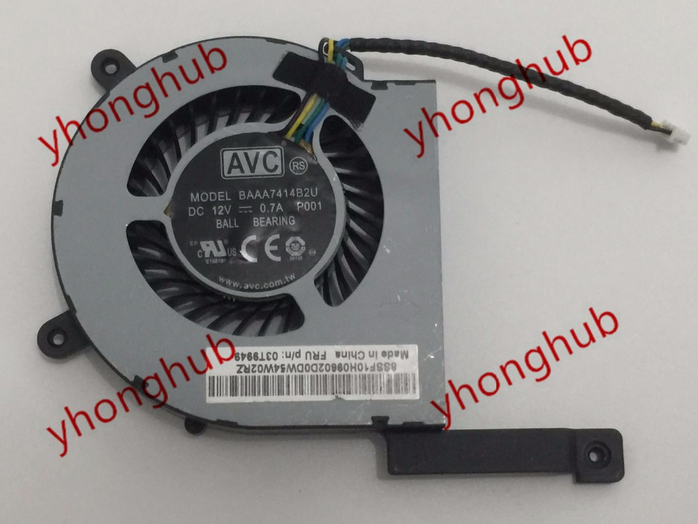 AVC BAAA7414B2U, P001 Server laptop Fan DC12V 0.7A 4-wire avc data1551b4l 17250 24v line server electronic enclosures fan