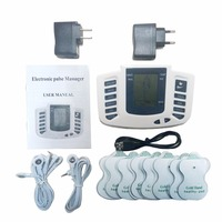Therapy Massager 16pads Electrical Stimulator Full Body Relax Muscle Therapy Massager LCD Screen Pulse Tens Acupuncture