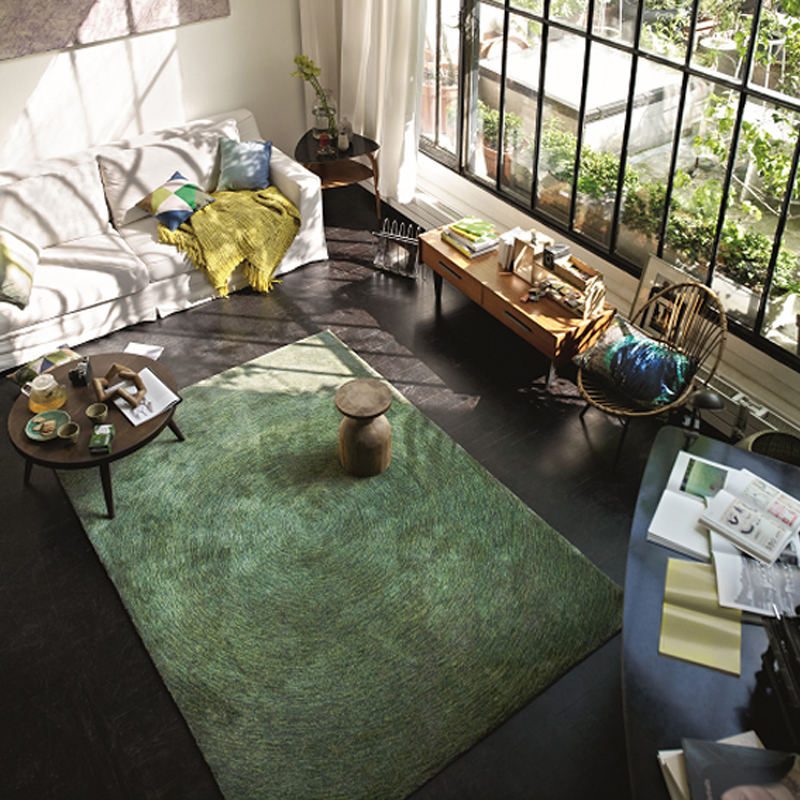 Шерсть ручной гостиной ковер геометрический индийский круглый ковер в клетку и полоску современный салон в богемном стиле дизайн килим Nordic