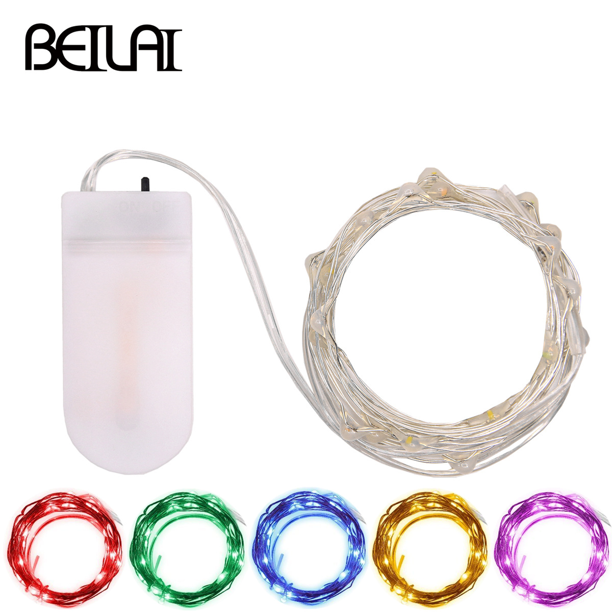 2M 20LED Fairy LED String Lights Silver Wire Button Battery Operated LED Holiday Lights For Christmas Wedding Party Decoration