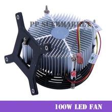 Envío Gratis 100W 150W de alta potencia Led de aluminio disipador de calor ventilador de refrigeración