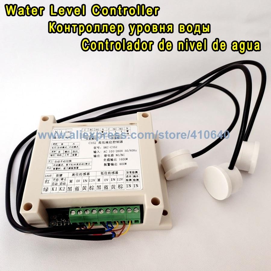 De fábrica Controlador de bomba de agua Interruptor de control de nivel de agua Controlador de nivel de líquido Para la bomba para controlar el nivel del contenedor de agua