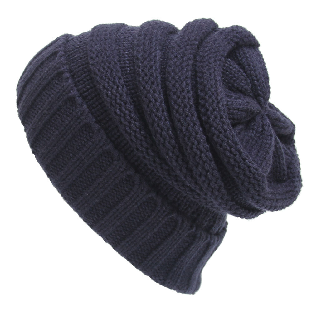 New women hat Warm Oversized Chunky Soft Oversized Cable Knit Slouchy Beanie charter club new blue sky women s medium m cable knit crewneck sweater $59 359