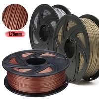 3D Printer Filament Silk Texture Feeling 1kg Silky Rich Luster 1.75 mm PLA Aluminum Bronze Copper 3d Printing Materials