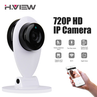 H.VIEW 720P IP Camera 1200TVL Wifi Camera CCTV Cameras Camara IP Babyphone Android iPhone Access Surveillance Cameras