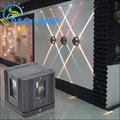 Modern lâmpada de parede 4 w de alumínio e aço inoxidável parede varanda corredor decoração luminária