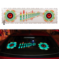 Car Sticker Music Rhythm LED Flash Light Lamp Sound Activated Equalizer Automobile Interior Atmosphere Car Decoration