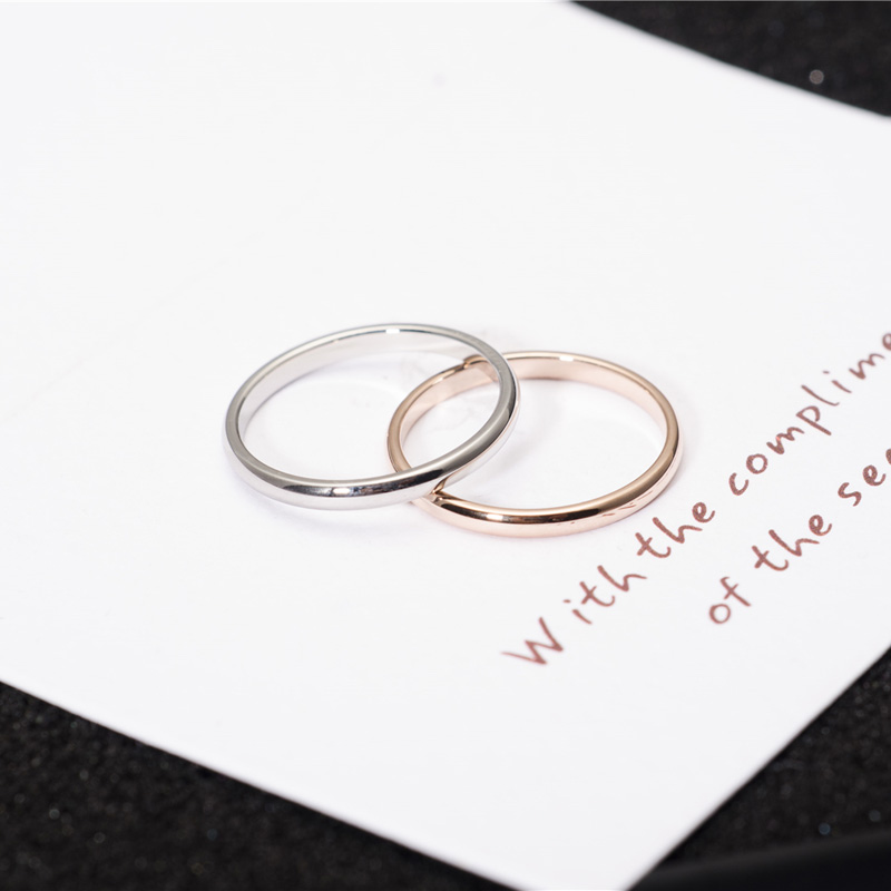 YUN RUO Rose Gold Silver Finger Ring for Woman Man Wedding Smycken 316L Rostfritt stål Högpolerad Toppkvalitet Inte blekna