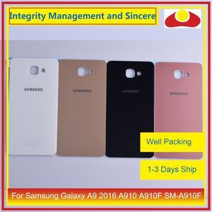 Image 1 - Oryginał do Samsung Galaxy A9 Pro A910 A9100 A910F obudowa klapki baterii tylna część obudowy obudowa Shell wymiana